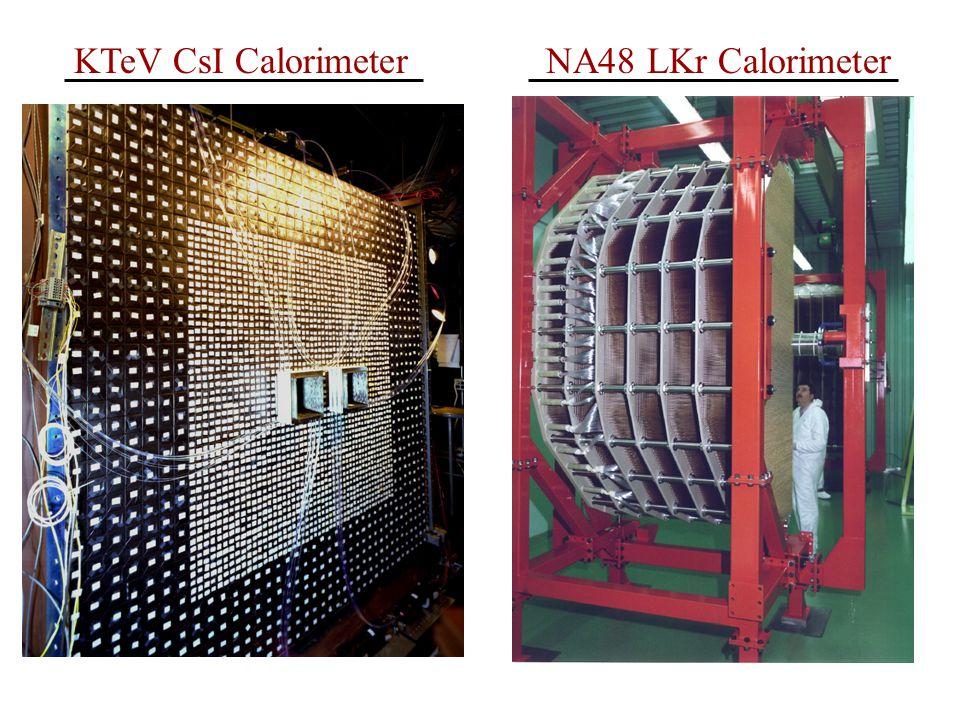 NA48 LKr CalorimeterKTeV CsI Calorimeter