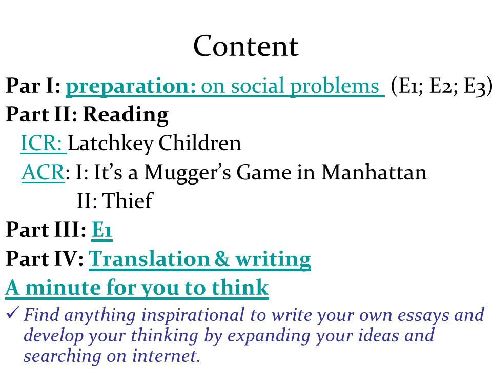 Part I: Preparation on social problems Why does it matter?