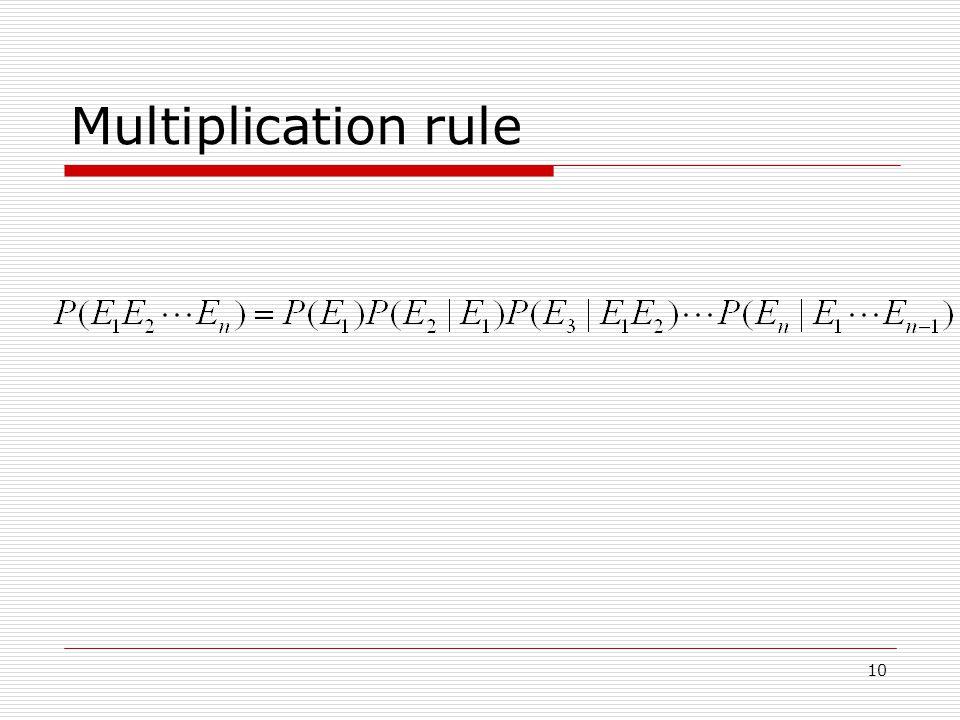10 Multiplication rule