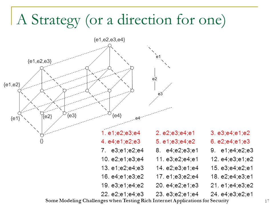 17 A Strategy (or a direction for one) 1. e1;e2;e3;e42.