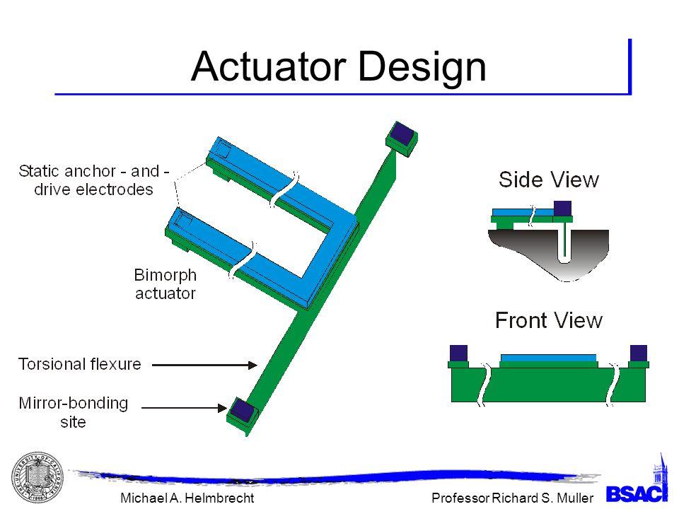 Professor Richard S. MullerMichael A. Helmbrecht Actuator Design