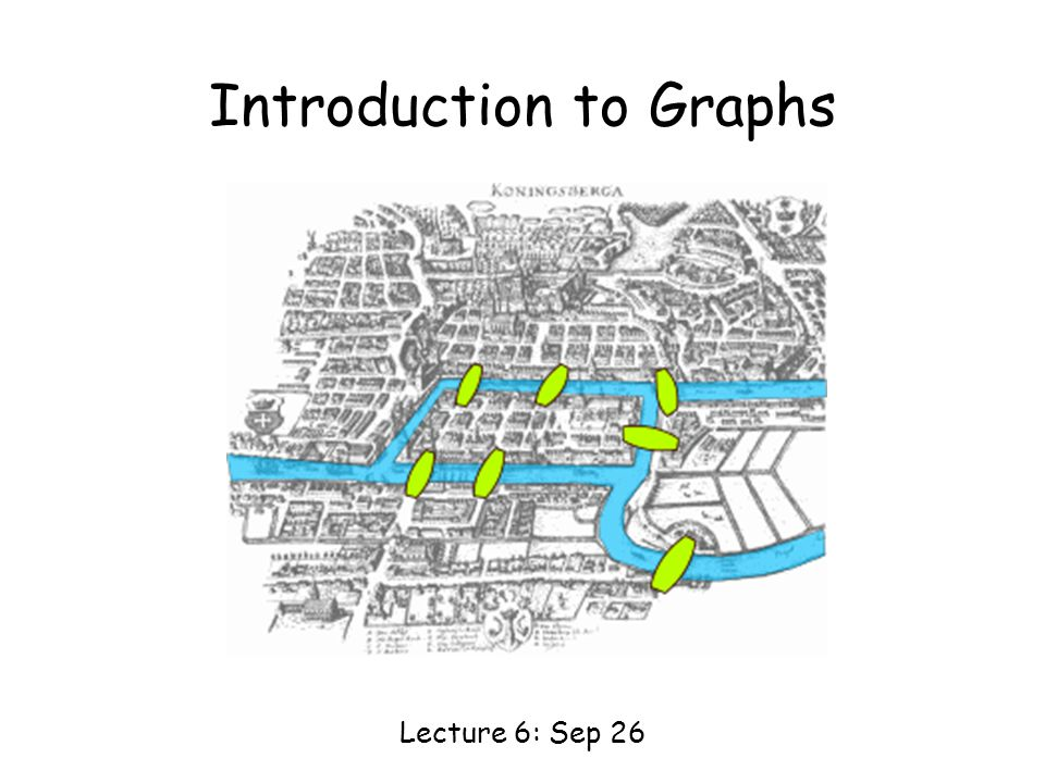 Introduction to Graphs Lecture 6: Sep 26