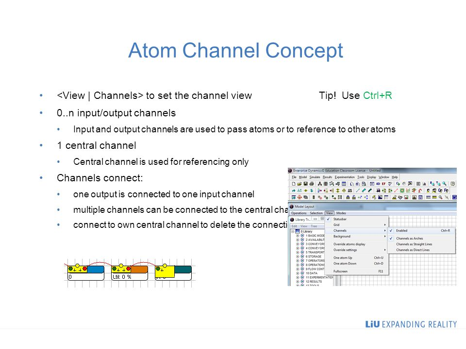 Atom Channel Concept to set the channel view Tip.