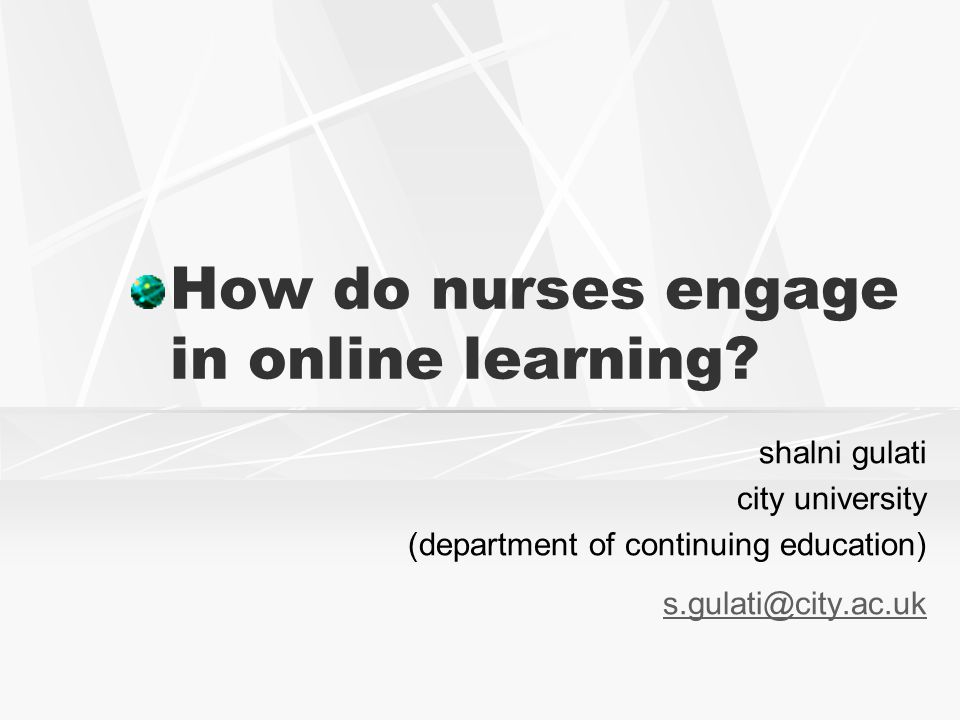How do nurses engage in online learning.