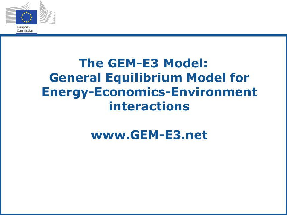 GEM-E3 SAM