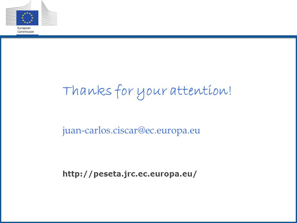 Thanks for your attention! juan-carlos.ciscar@ec.europa.eu http://peseta.jrc.ec.europa.eu/