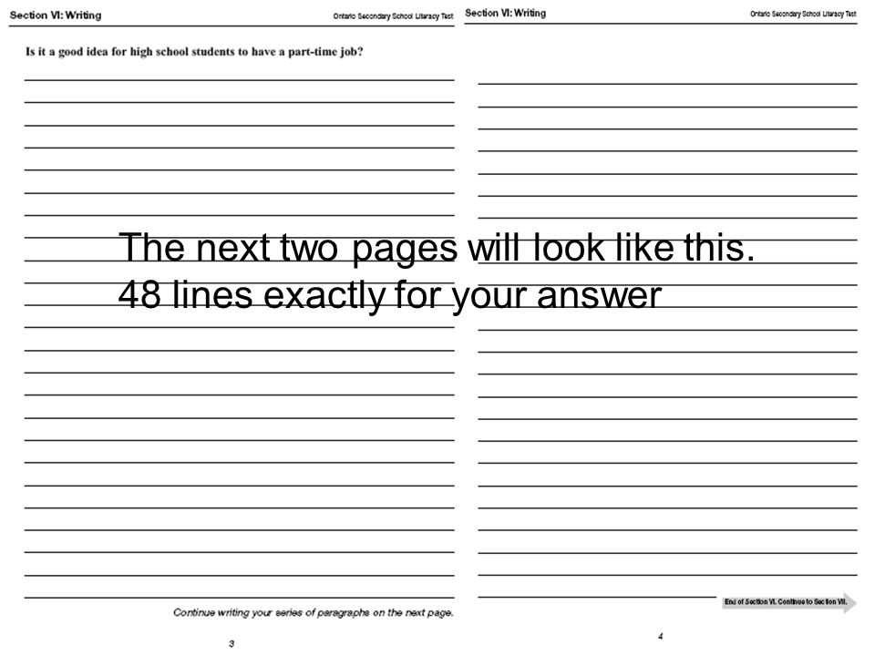 The next two pages will look like this. 48 lines exactly for your answer