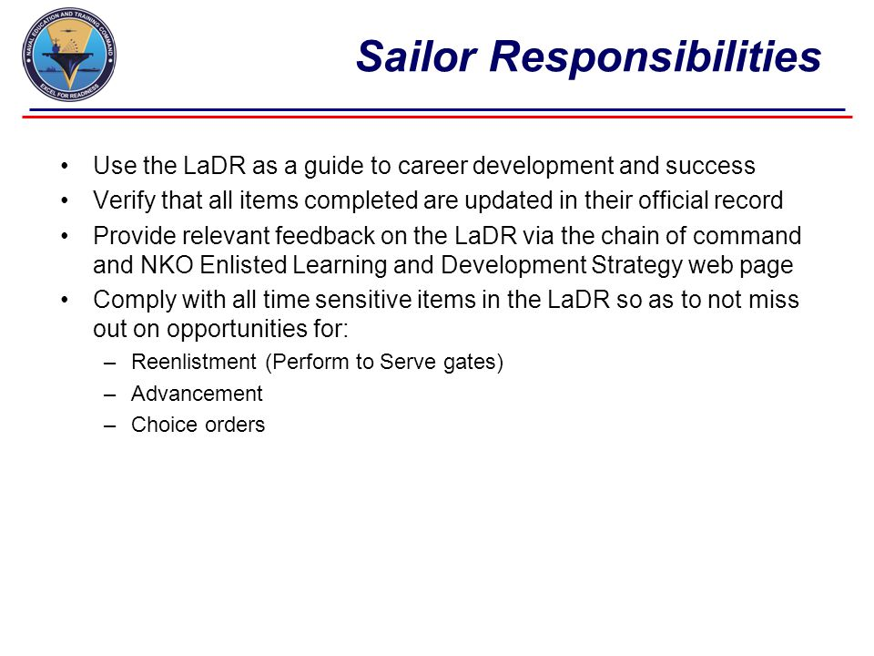 How to access a LaDR Click on the Career Management Tab