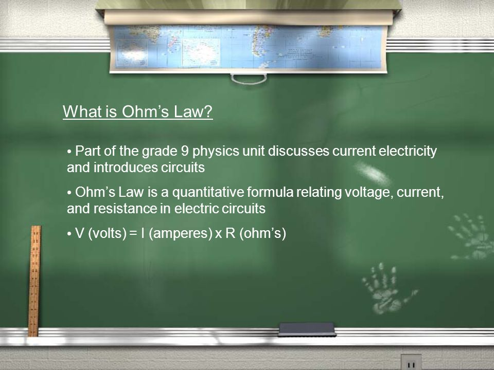 What is Ohm's Law.
