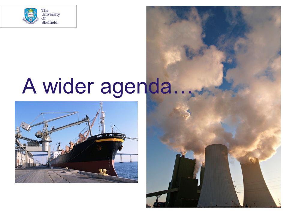 A wider agenda…