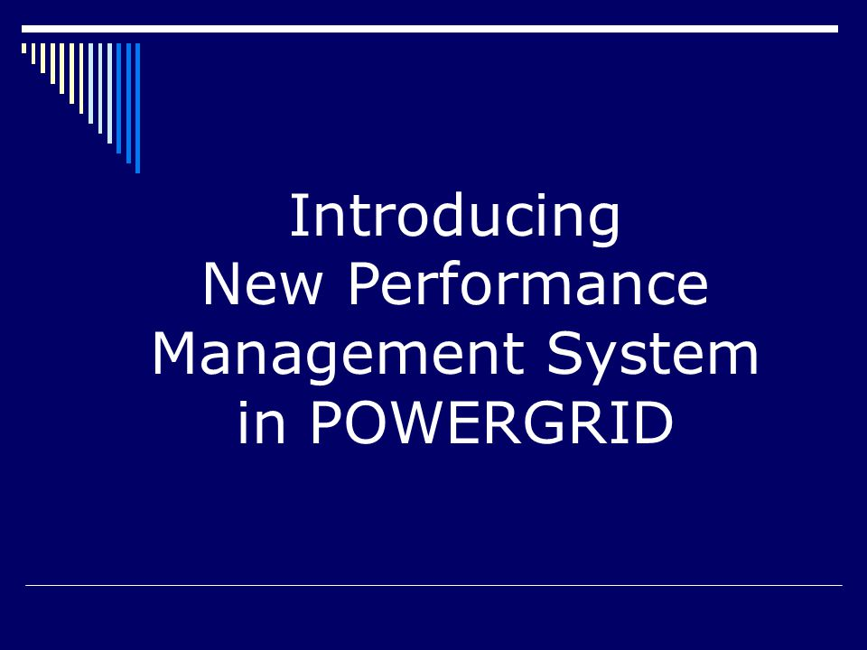 Introducing New Performance Management System in POWERGRID