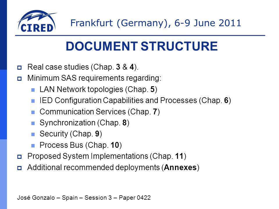 Frankfurt (Germany), 6-9 June 2011  Real case studies (Chap.