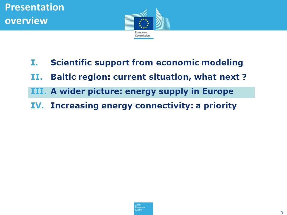 9 I.Scientific support from economic modeling II.Baltic region: current situation, what next .