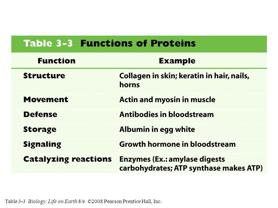 Table 3-3 Biology: Life on Earth 8/e ©2008 Pearson Prentice Hall, Inc.