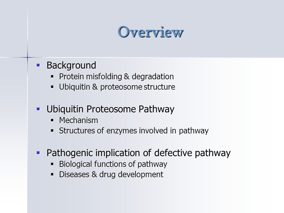 Biological function of Ubiquitin Proteosome pathway