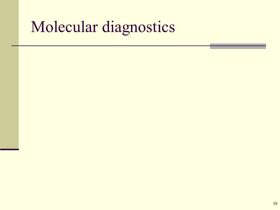 59 Molecular diagnostics