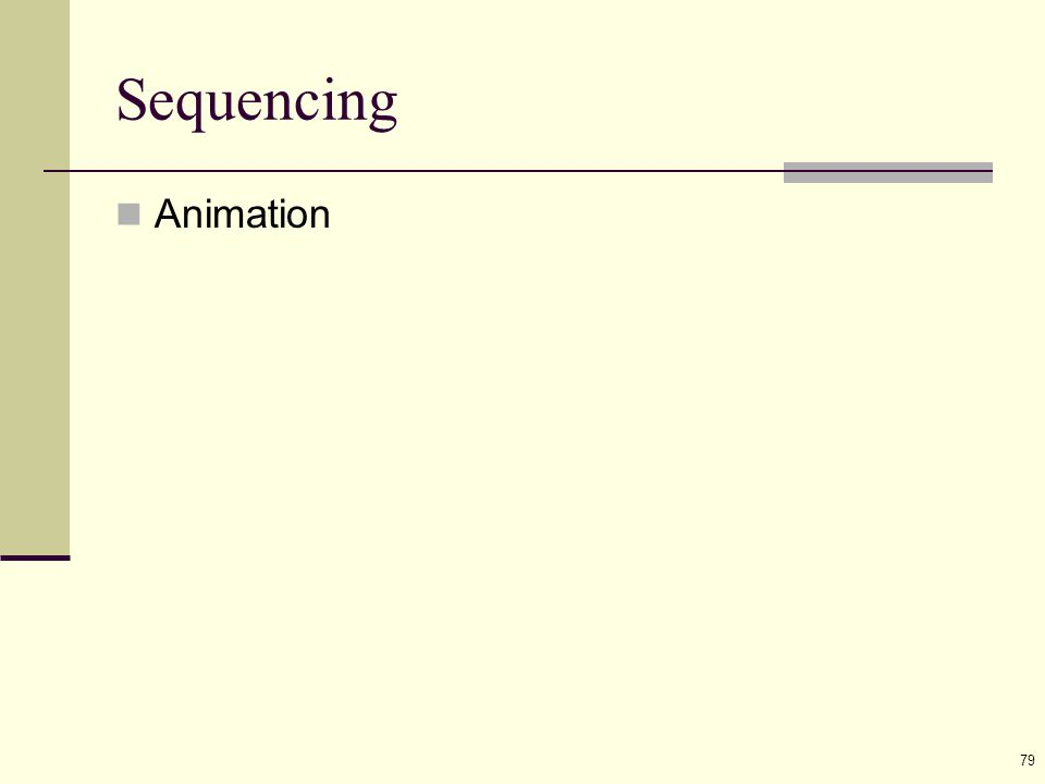 79 Sequencing Animation