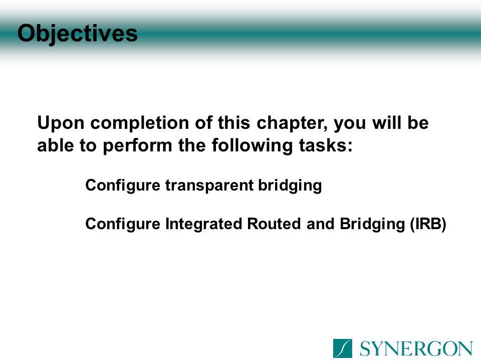 Transparent Bridging Configuration