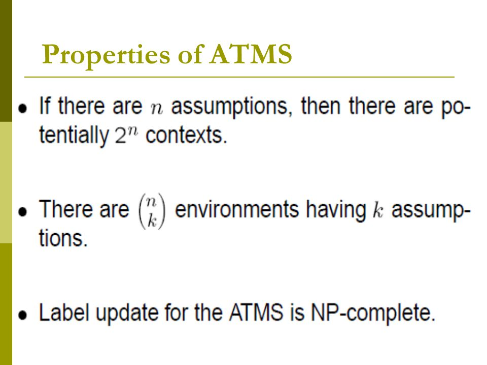 Properties of ATMS