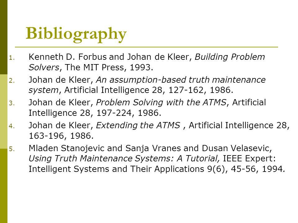 Bibliography 1. Kenneth D.