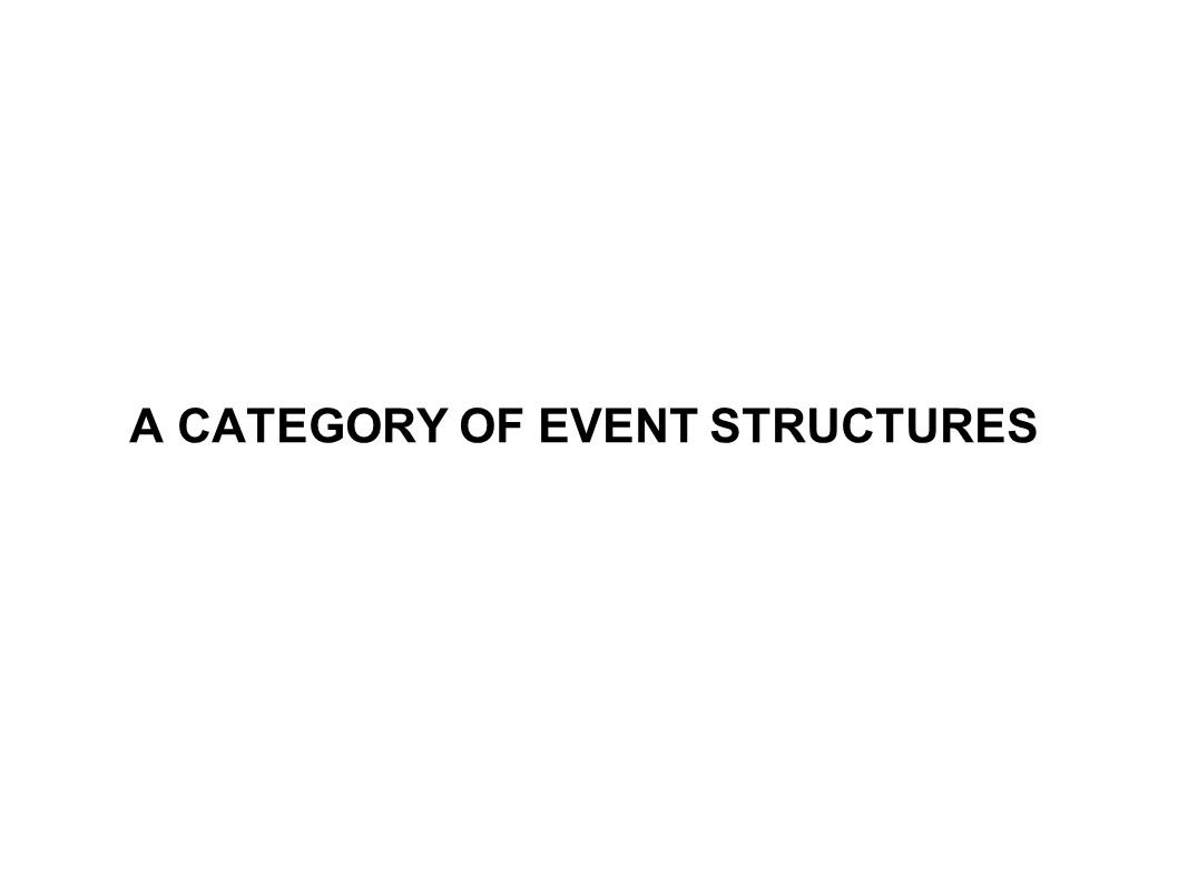 A CATEGORY OF EVENT STRUCTURES