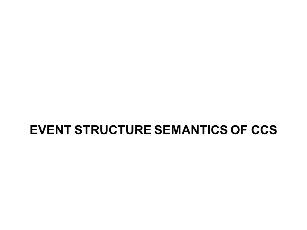 EVENT STRUCTURE SEMANTICS OF CCS
