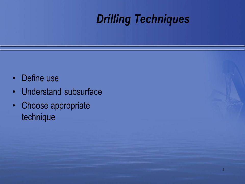 5 Drilling Techniques Solid flight auger Driscoll, 1986
