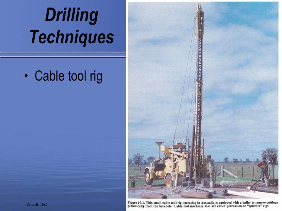 18 Drilling Techniques Drag bit Driscoll, 1986