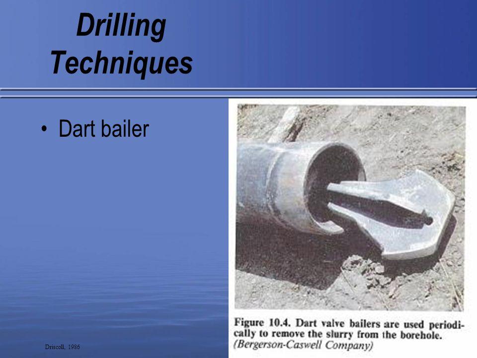 10 Drilling Techniques Bottom flap bailer Driscoll, 1986