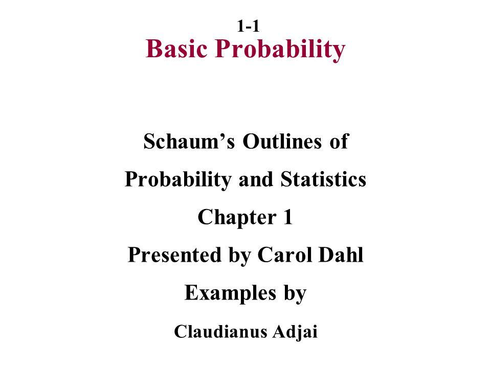 1-22 Bayes' Theorem From definition P(E2|h) = P(h∩E2) => P(h∩E2) = P(E2|h)P(h) P(h) but also P(h∩E2) = P(h|E2)P(E2) Replace in numerator P(E2|h) = P(h|E2 )P(E2 ) P(h)