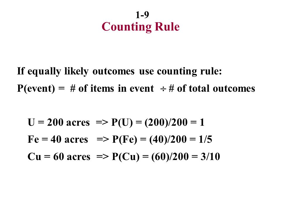 1-20 Bayes' Theorem Bayes - Making decisions using new sample information.