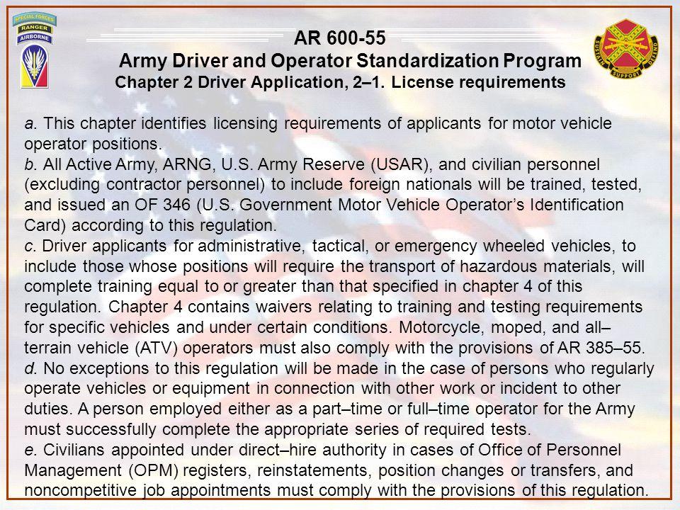 FORSCOM Regulation 385-1 Forces Command Safety Program 1-8 Responsibilities: c.