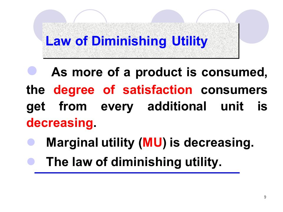10 Ordinal utility Ordinal utility holds that utility cannot be measured but can be ordered according to consumers' preferences.