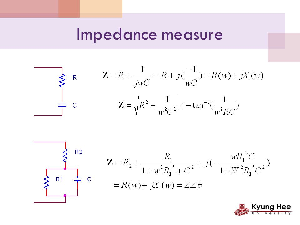 Bio Impedance Spectroscophy Z + - Repeat measurement for many frequencies Zb f θf