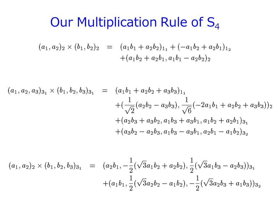 Our Multiplication Rule of S 4 57