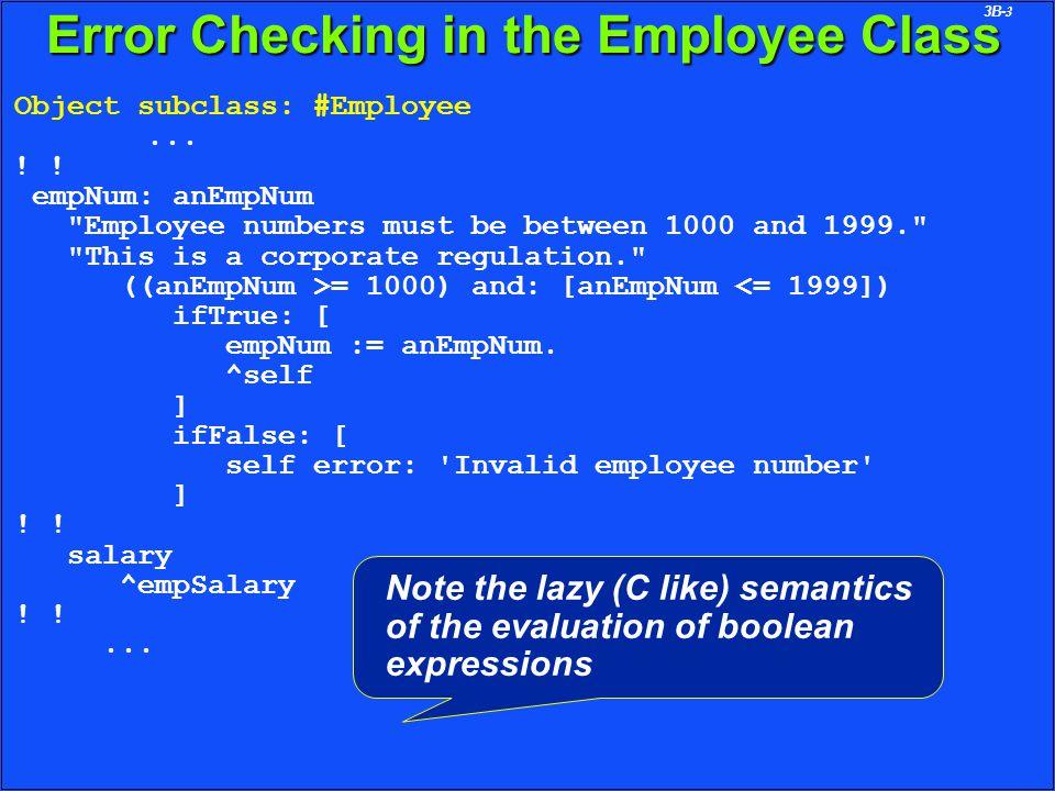 3B-4 Set Manipulation in the Employee Class Object subclass: #Employee...