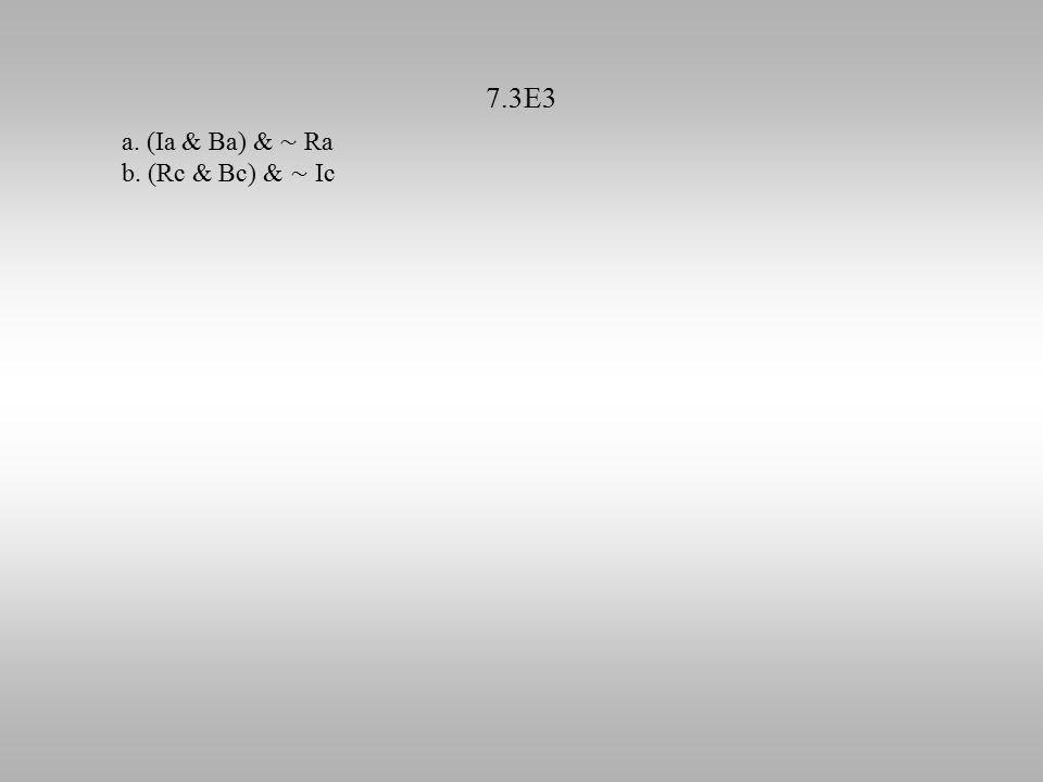 7.3E3 a. (Ia & Ba) & ∼ Ra b. (Rc & Bc) & ∼ Ic