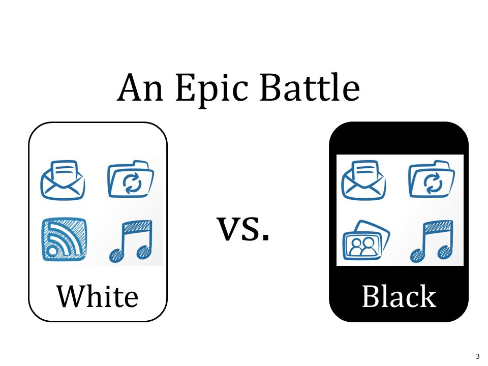 Black format c: White vs. 3 An Epic Battle
