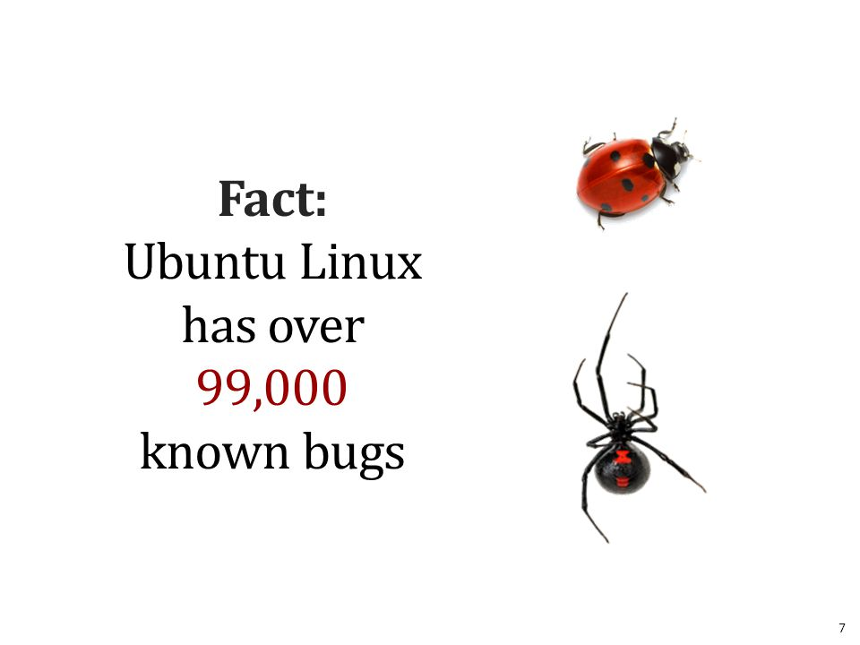 Fact: Ubuntu Linux has over 99,000 known bugs 7