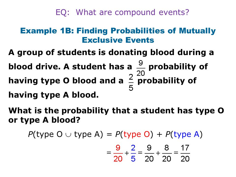 Example 2A: Finding Probabilities of Compound Events Find the probability on a number cube.