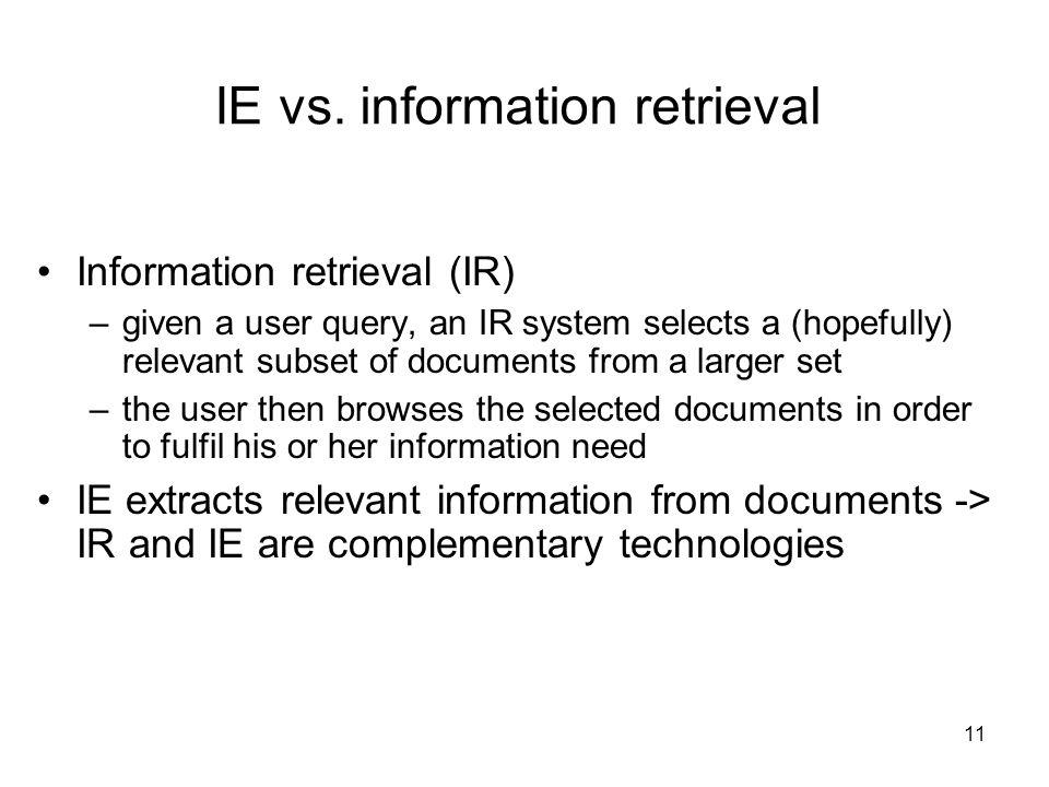 11 IE vs.