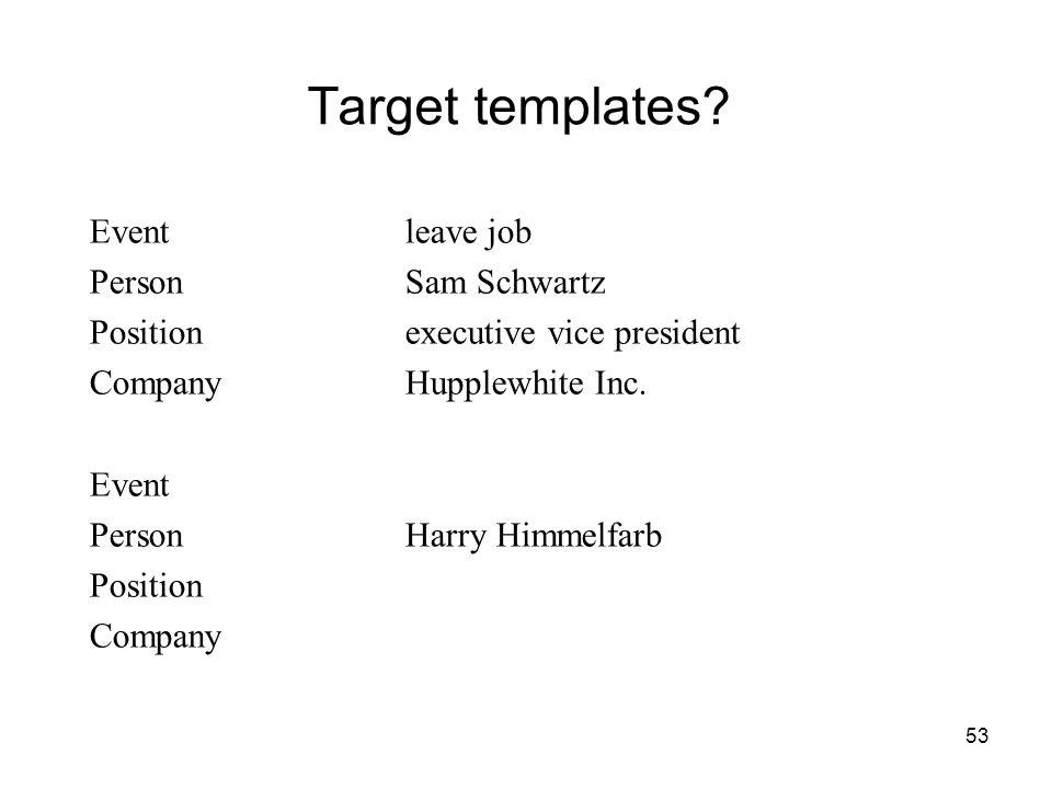 53 Target templates.