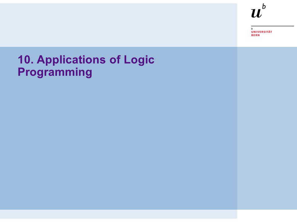 10. Applications of Logic Programming