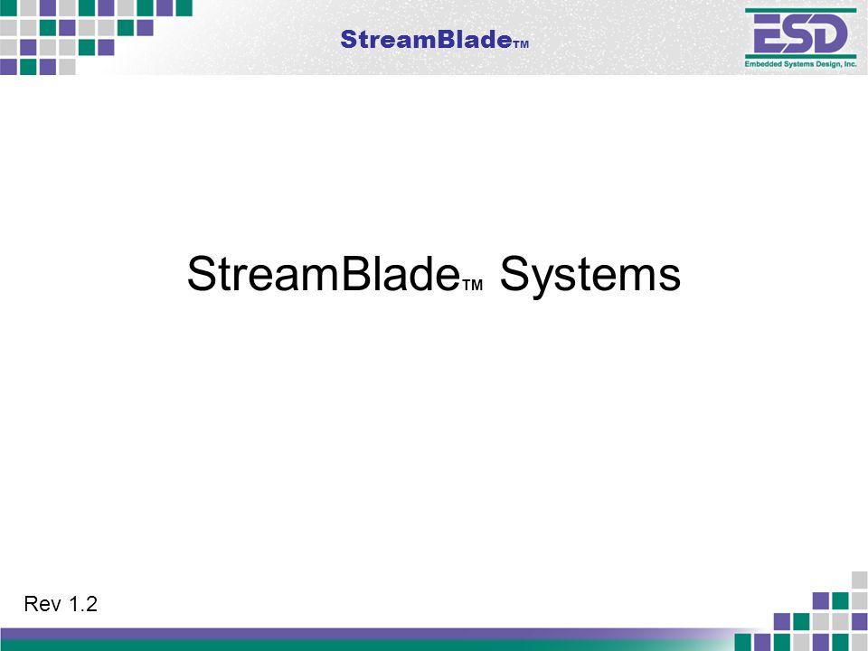 StreamBlade TM StreamBlade TM Systems Rev 1.2