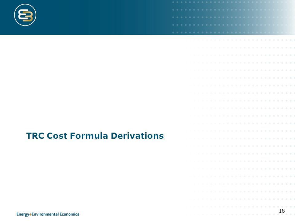TRC Cost Formula Derivations 18