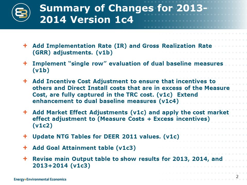 IR and GRR Net Avoided Costs have been revised to include adjustments for Installation Rate (IR) and Gross Realization Rate (GRR) Installation Rate IR = percent of incented units that are installed during the program cycle.
