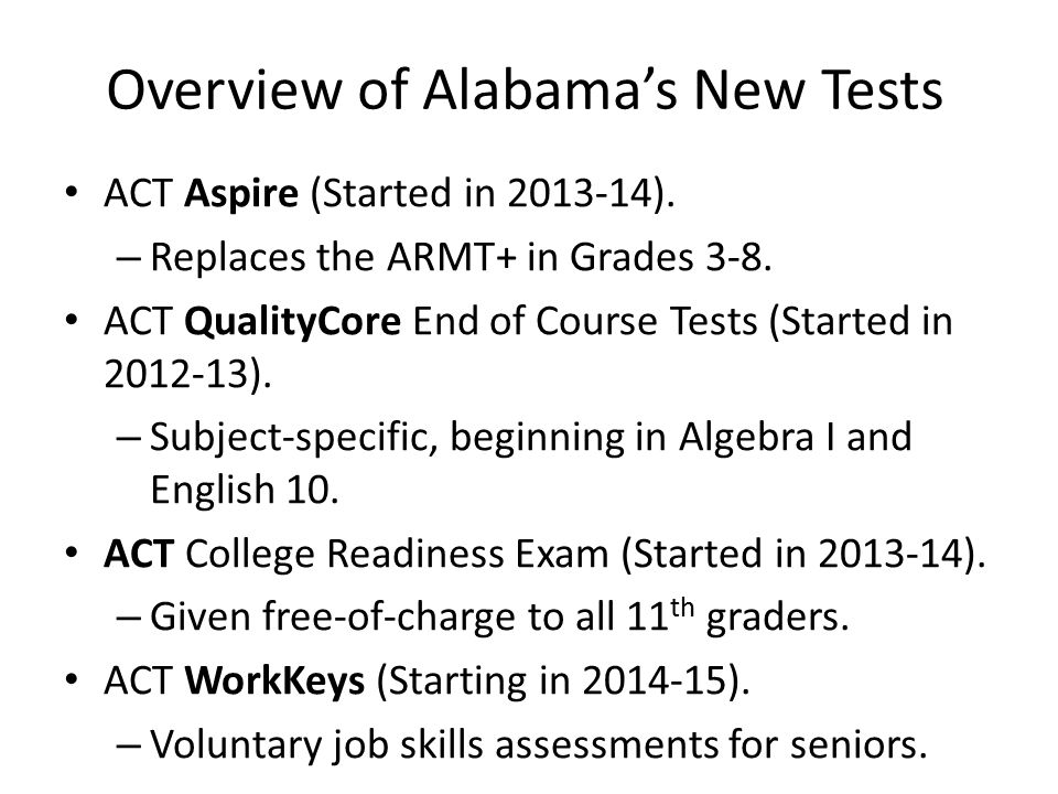 The Proficiency Drop Aspire scores will look more like NAEP than ARMT.