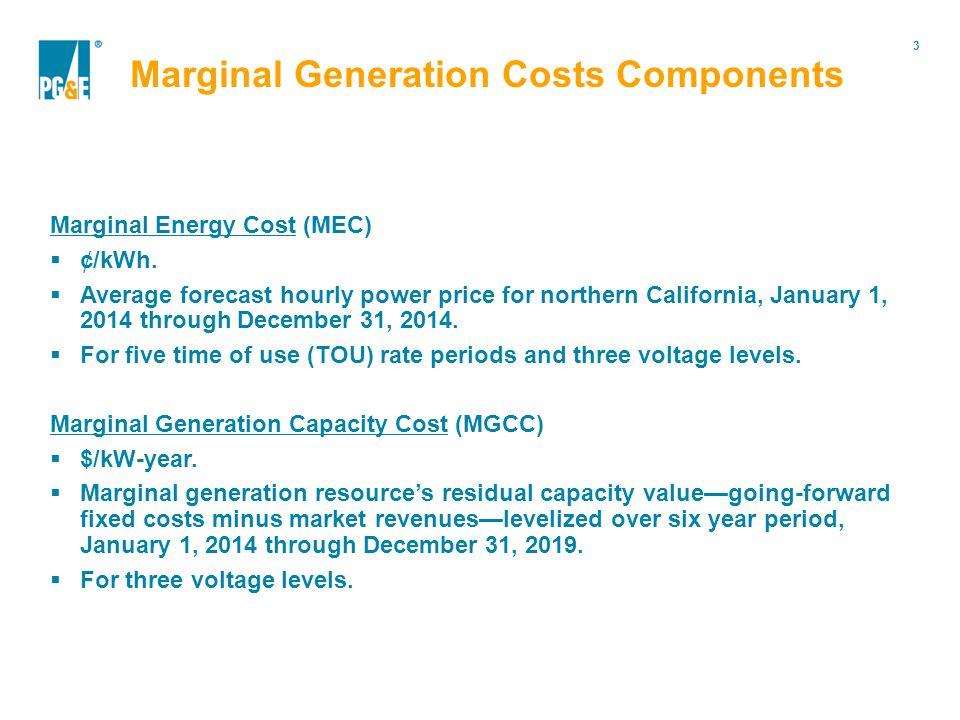 3 Portfolio Modification Marginal Energy Cost (MEC)  ¢/kWh.
