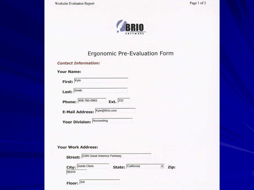 Brio Ergonomics Web Page