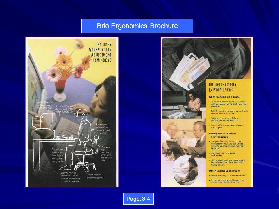 Brio Ergonomics Brochure Page: 1-2